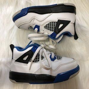 Toddler Jordan 4 Retro Blue Black White sz 7C